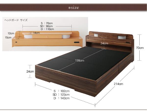 【サイズ】シングル:幅102×長さ214×高さ70cmセミダブル:幅123×長さ214×高さ70cmダブル:幅143×長さ214×高さ70cm