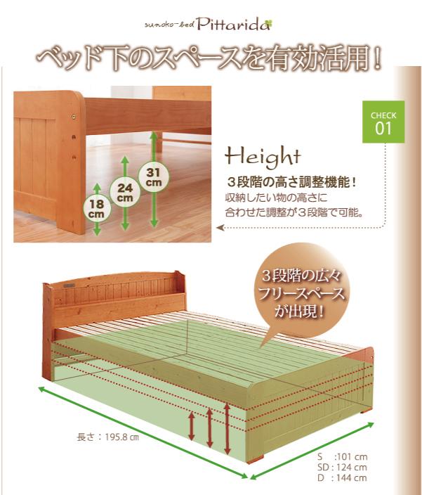 ベッド下のスペースを有効活用