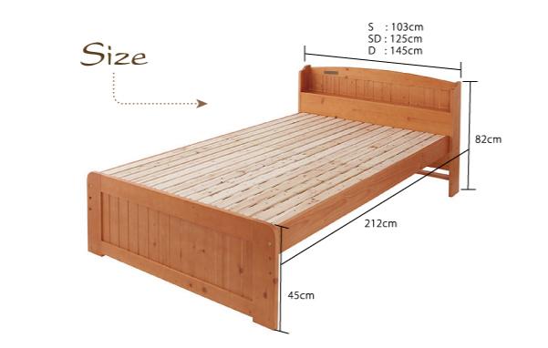【サイズ】シングルサイズ:幅103×長さ212×高さ82cmセミダブルサイズ:幅125×長さ212×高さ82cmダブルサイズ:幅145×長さ212×高さ82cm