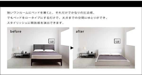 狭いワンルームにベッドを置くと、それだけでかなりの圧迫感。