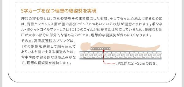 ●S字カーブを保つ理想の寝姿勢を実現