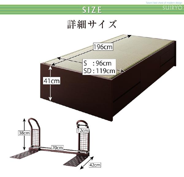シンプルベッドは、全長196cm 高さ41cm
