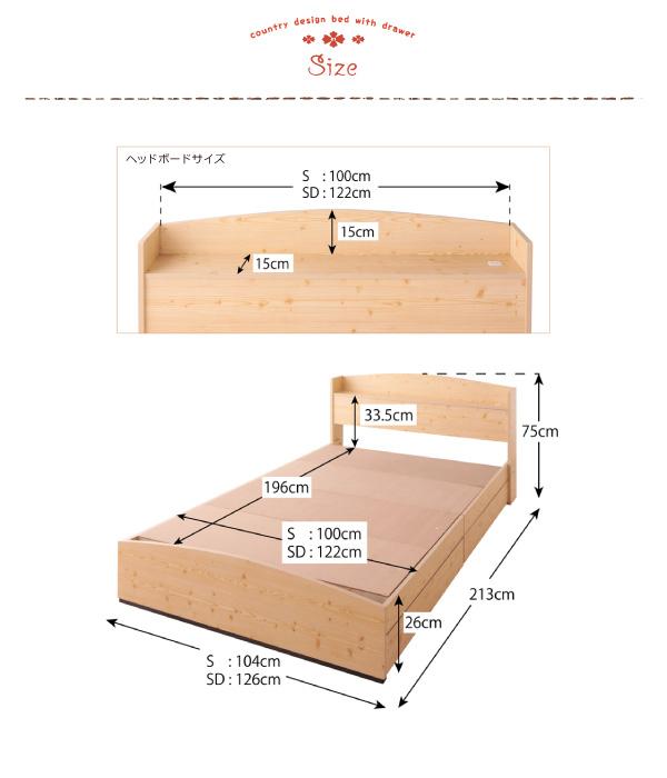 【サイズ】シングル:幅104×長さ213×高さ75cmセミダブル:幅126×長さ213×高さ75cm