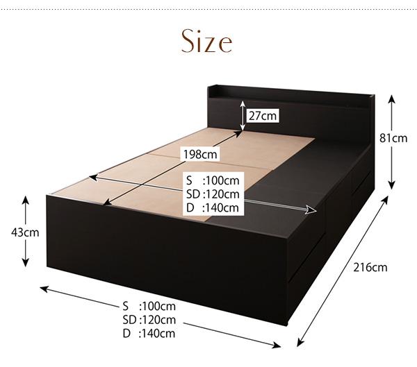 ●ベッドフレーム●【サイズ】シングル:幅100×長さ216×高さ81cmセミダブル:幅120×長さ216×高さ81cmダブル:幅140×長さ216×高さ81cm
