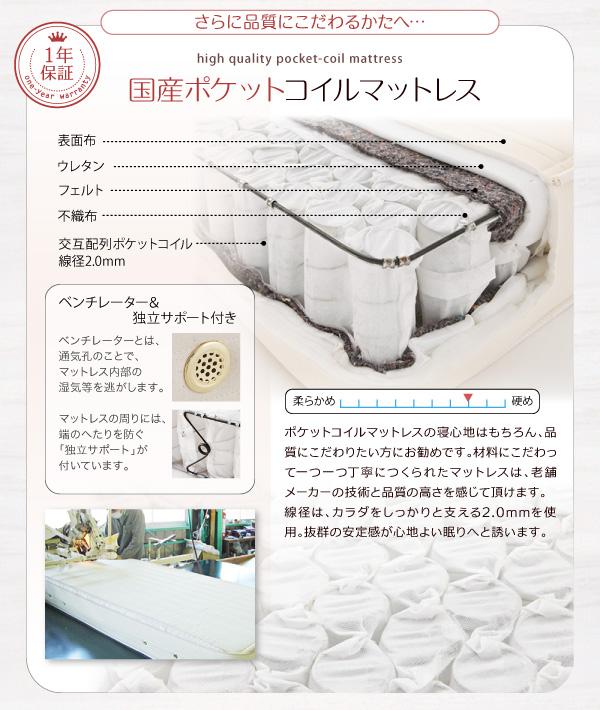 ●日本製ポケットコイルマットレス●【1年間保証】