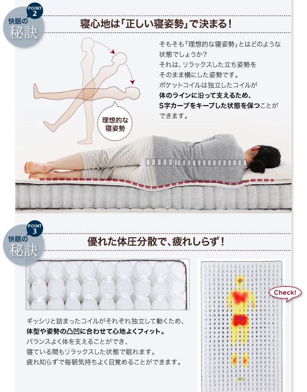 究極の寝心地が得られるポケットコイル