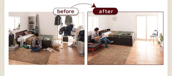 今までくつろぐ場所がなかった部屋にも、ソファを置いて快適に。