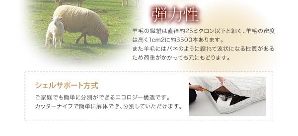 羊毛の弾力性