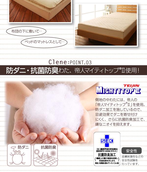 防ダニ・抗菌防臭ソファマットレス【Clene】クリネ