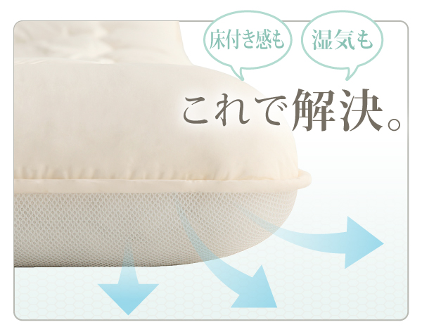 3D構造ハニカムメッシュ使用!通気性の良いボリューム敷布団
