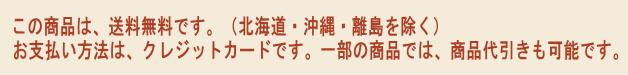 この商品は、送料無料です。(北海道、沖縄、離島を除く)お支払い方法は、クレジットカードです。一部の商品では、商品代引きも可能です。