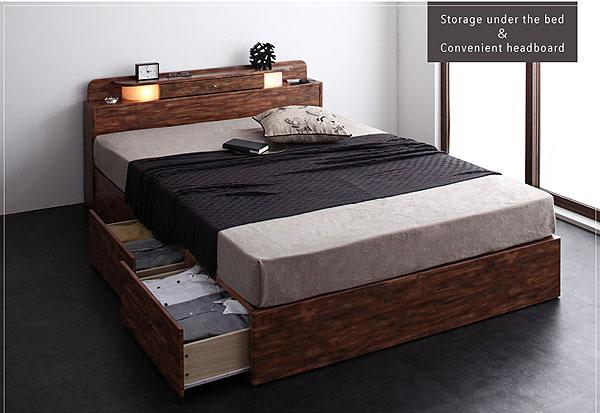 引き出しとベッド下収納