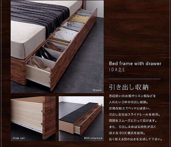 ベッド下は収納スペース