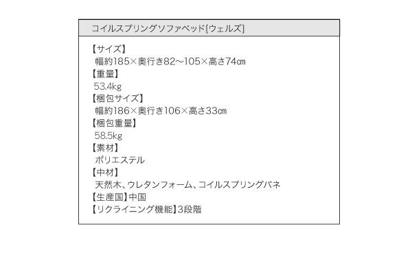 コイルスプリングソファベッド【Welz】ウェルズ