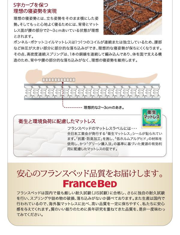 安心のフランスベッド品質をお届けします。