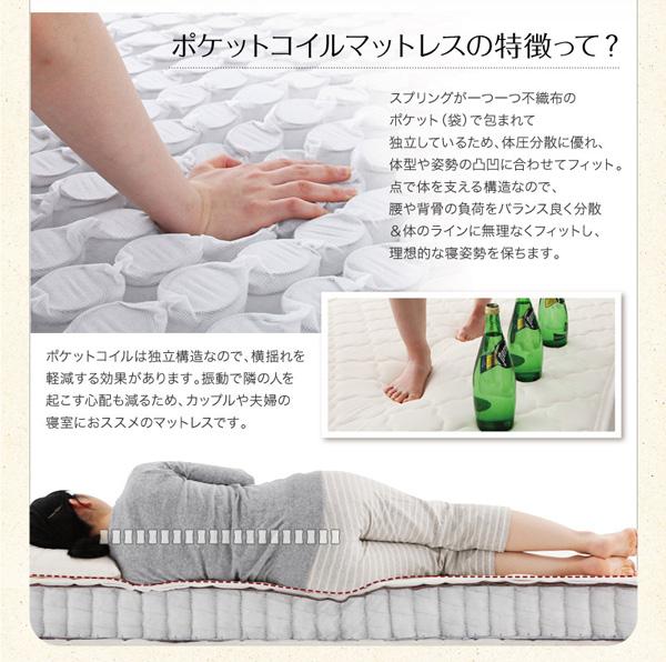 体のラインに無理なくフィットし、理想的な寝姿勢を保ちます