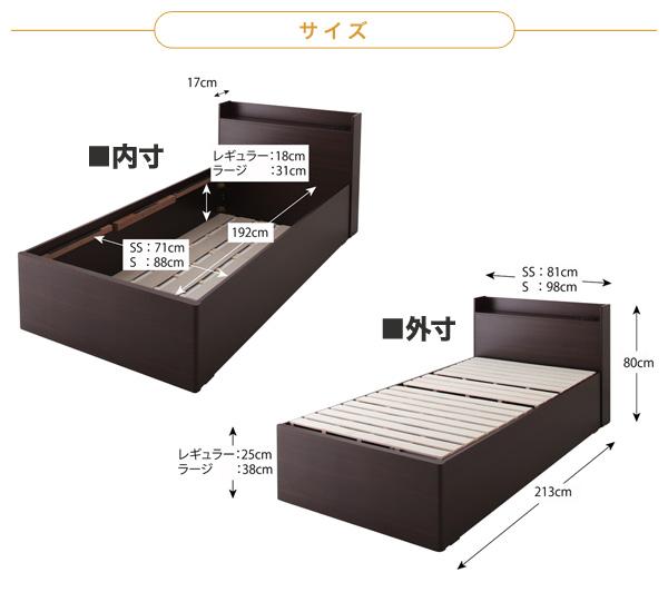 【サイズ】 幅x長さx高さ セミシングル(約)81x213x80cm シングル     (約)98x213x80cm